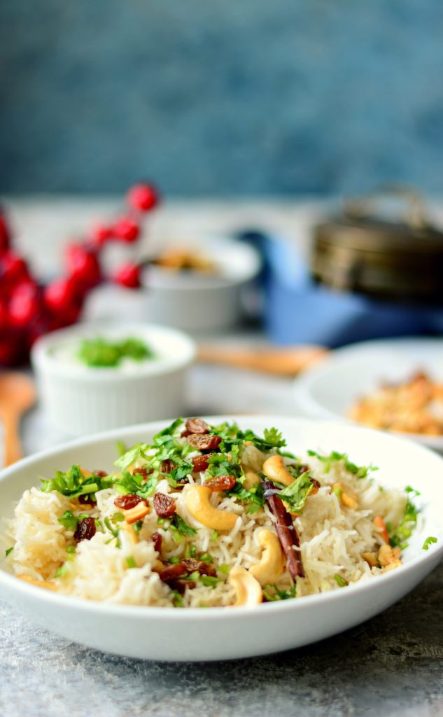 Cashew Raisin Pulao