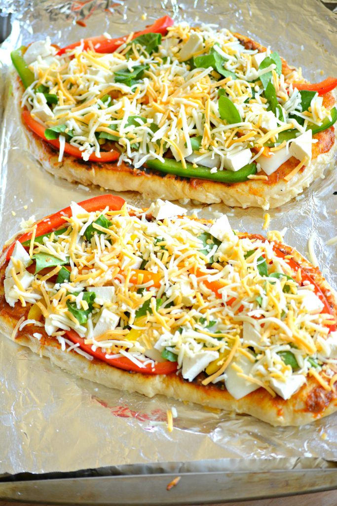 Pizza assembled Indian style