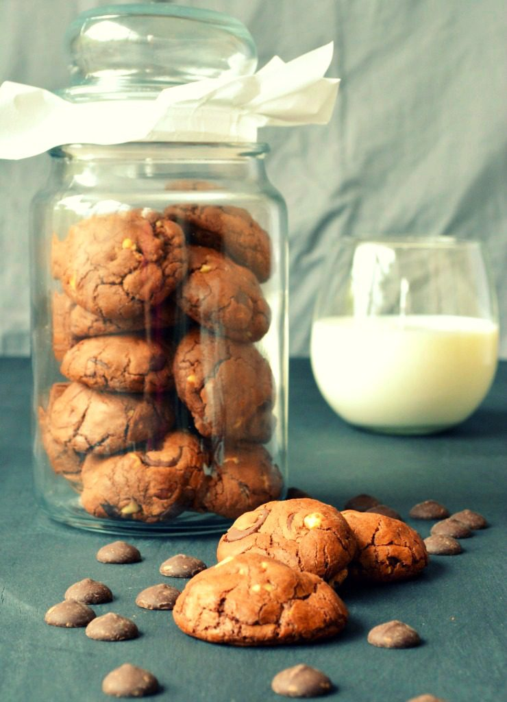 Triple Chocolate Cookie - When warm, it's like eating a lava cake, and when cooled, tastes like a brownie!