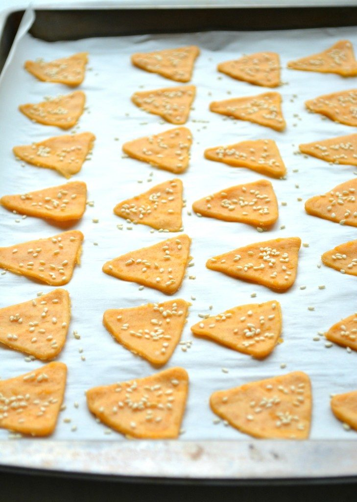 Cheese Crisps on baking tray