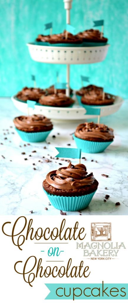 Magnolia Chocolate Cupcakes Pin