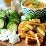 Cucumber Paneer bites w/ Cashew Curry sauce