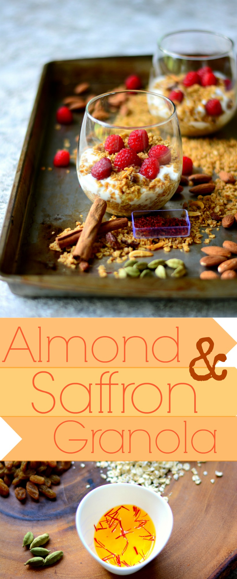 Saffron Almond Granola pin