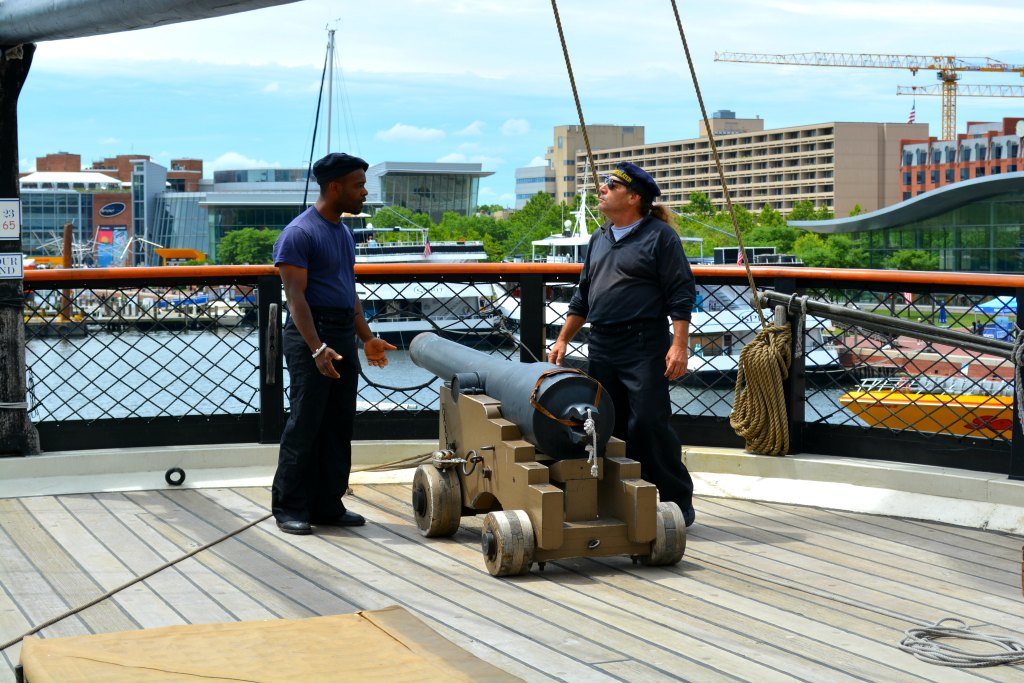 USS Constellation Gun drill Baltimore