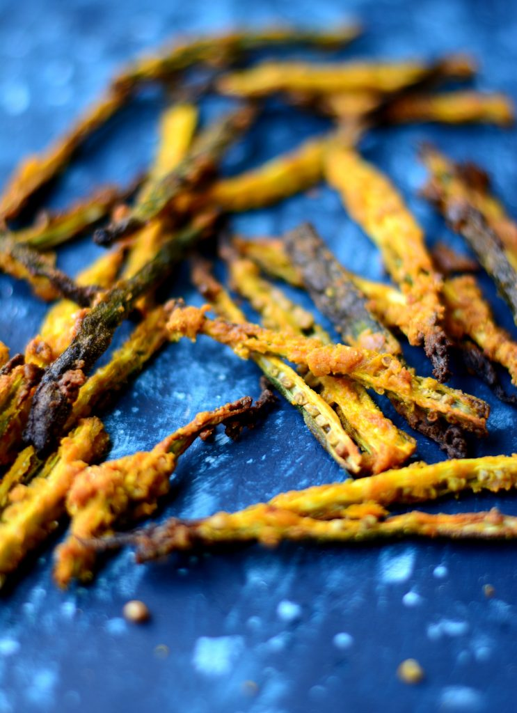 Baked Okra Fries