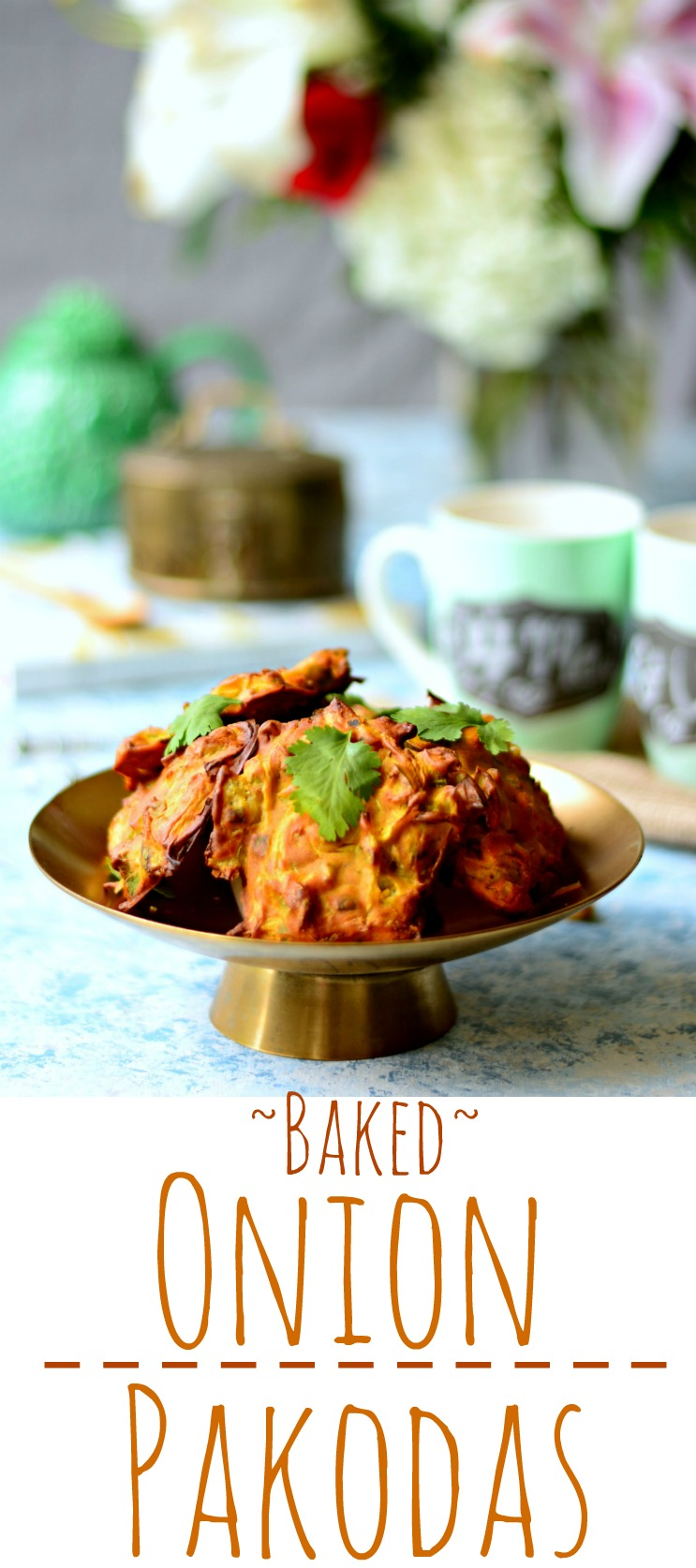 Baked Onion Pakodas Pin