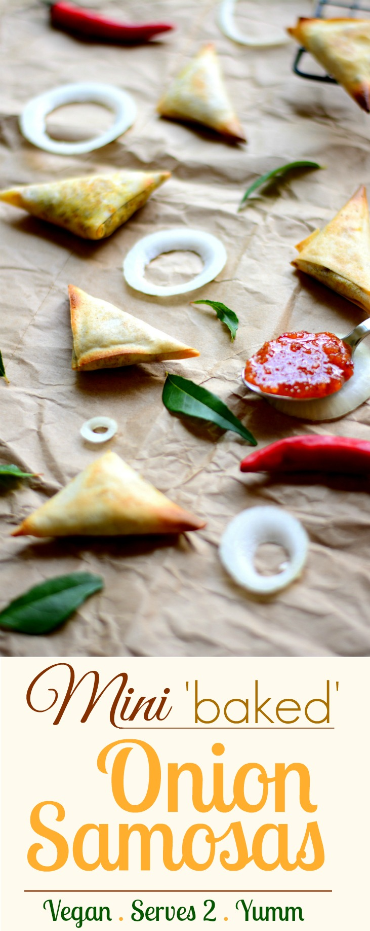 Mini Baked Onion Samosa pin