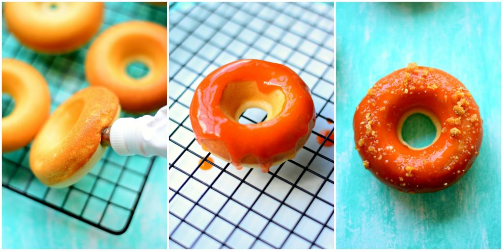 filling-and-glazing-baked-peach-jelly-donuts