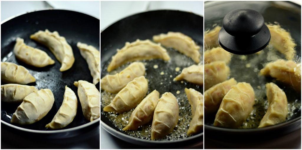 Potstickers cooking