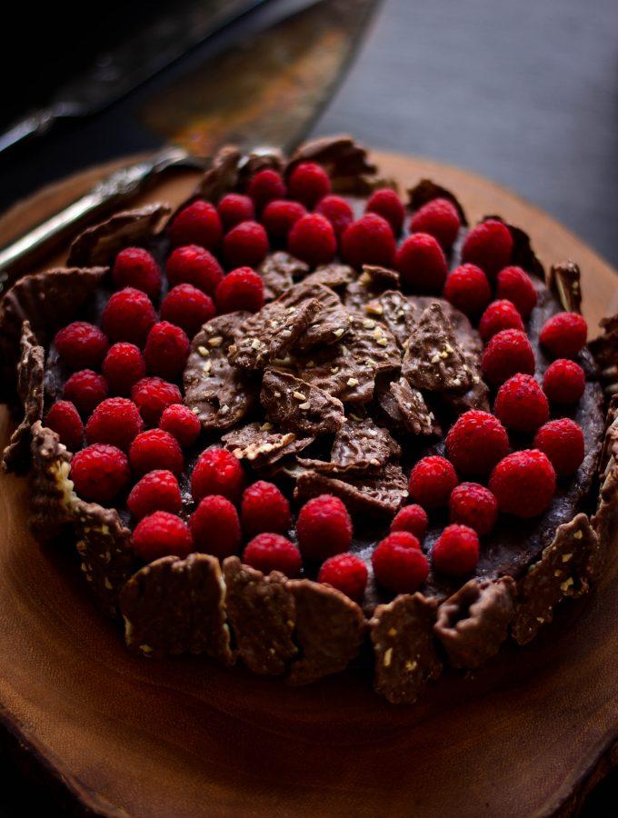 Chocolate Torte with Chocolate Wavy Lays