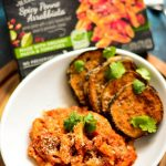 Crispy Baked Eggplant Slices - perfectly breaded, flavored and spiced and BAKED! A wonderful side to go along with LEAN CUISINE® Marketplace Spicy Penne Arrabbiata!