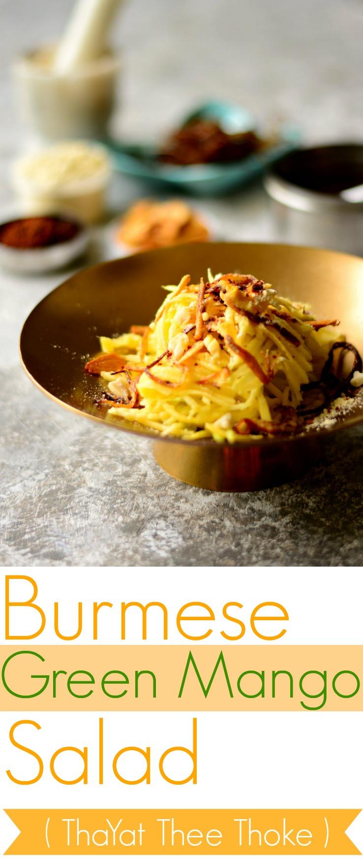 Burmese Green Mango Salad Pin