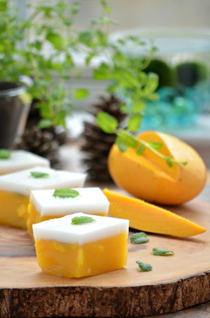 Vegan Mango and Coconut Jelly
