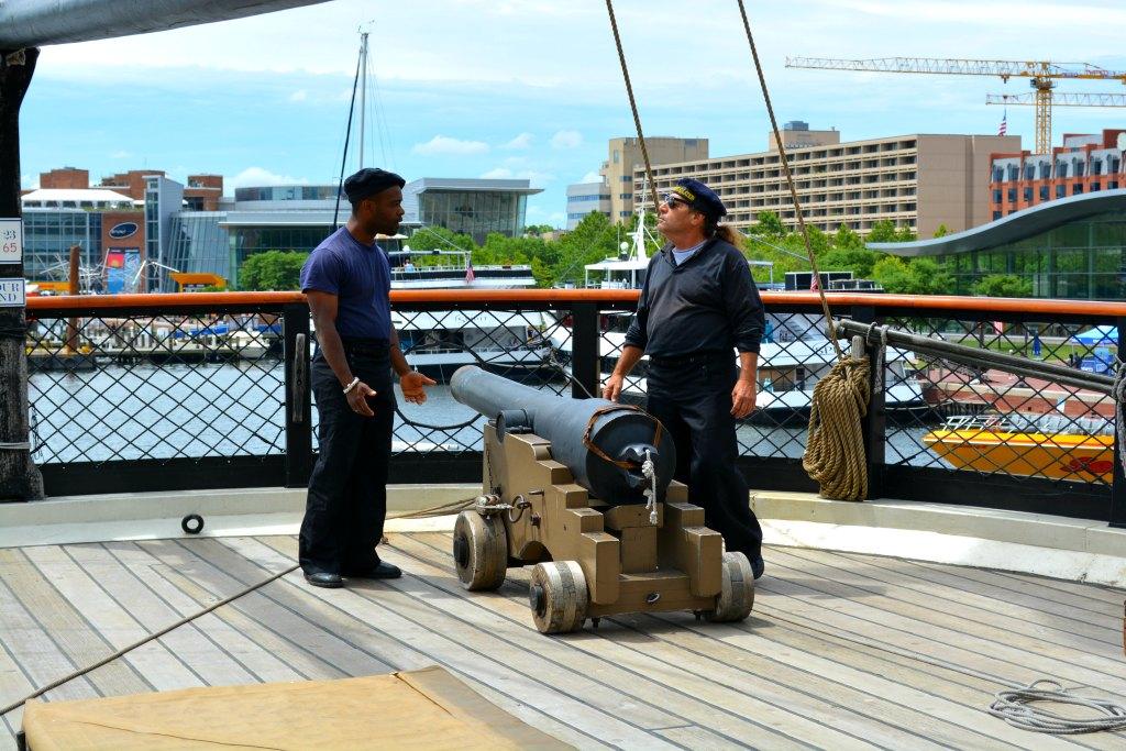 USS Constellation Gun drill Baltimore