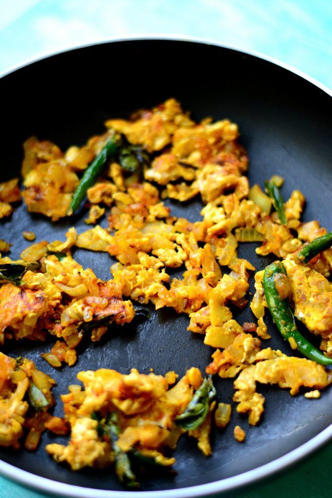 Stir Fried Egg Semiya step 4