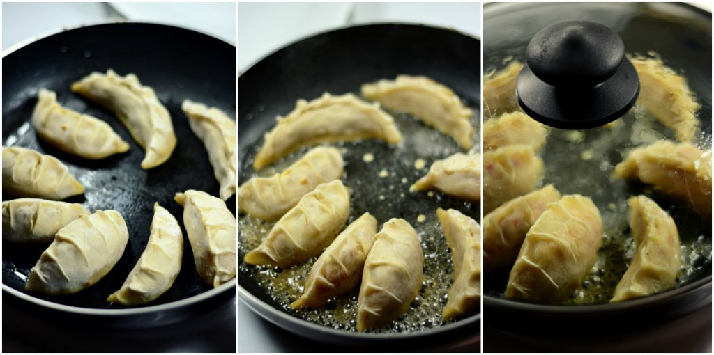 Potstickers cooking