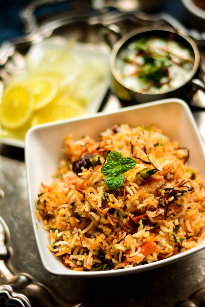 Dum Biriyani is never a small batch affair, but this delicious and fragrant Vegetable Dum Biriyani serves just two! Easily made VEGAN too!