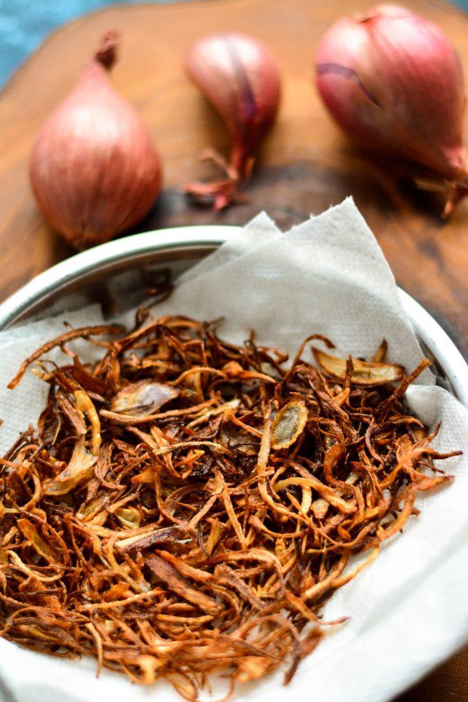 Fried Onions are the secret to a good Dum Biriyani