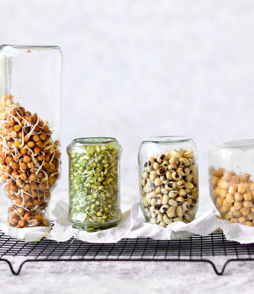 Soaking overnight before cooking is the right way to handle beans, grains, nuts and seeds and the perfect start to homemade sprouts! Find out why? #vegan #vegetarian #healthy #snack #sprouts #protein